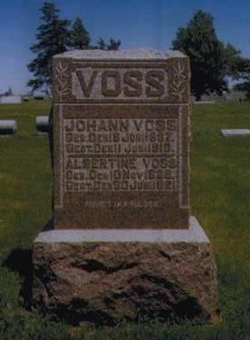 HAASE VOSS, ALBERTINE - Calhoun County, Iowa | ALBERTINE HAASE VOSS