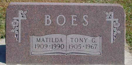 BOES, TONY & MATILDA - Carroll County, Iowa   TONY & MATILDA BOES