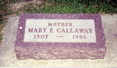 CALLAWAY, MARY E. - Carroll County, Iowa | MARY E. CALLAWAY