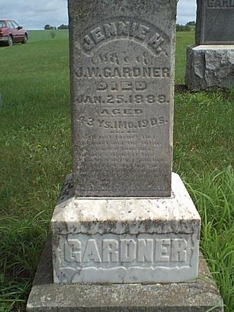 GARDNER, JENNIE - Carroll County, Iowa | JENNIE GARDNER