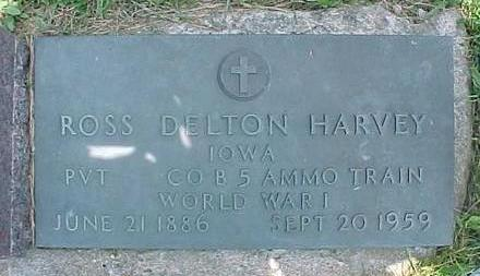 HARVEY, ROSS DELTON - Carroll County, Iowa | ROSS DELTON HARVEY