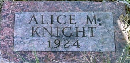 KNIGHT, ALICE M. - Carroll County, Iowa | ALICE M. KNIGHT