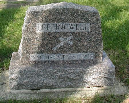 KELLEY LEFFINGWELL, HARRIET MAY - Carroll County, Iowa   HARRIET MAY KELLEY LEFFINGWELL