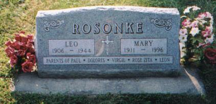 ROSONKE, MARY - Carroll County, Iowa | MARY ROSONKE