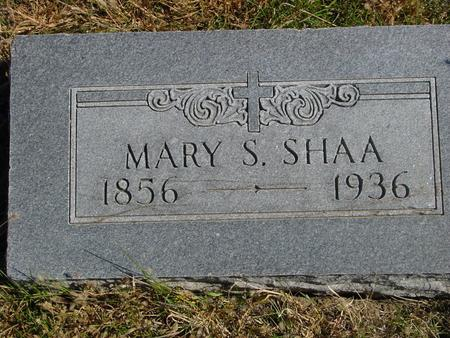 SHAA, MARY S. - Carroll County, Iowa | MARY S. SHAA