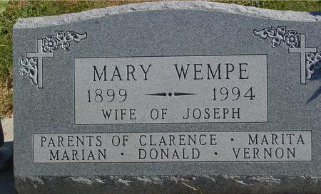 WEMPE, MARY - Carroll County, Iowa | MARY WEMPE