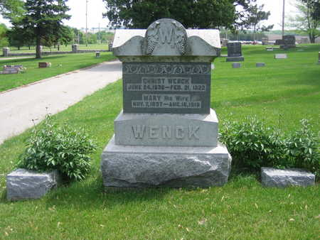 WENCK, CHRIST - Carroll County, Iowa | CHRIST WENCK