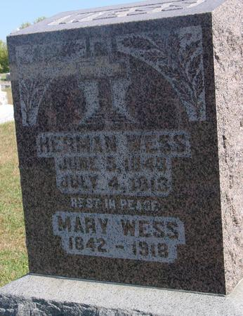 WESS, HERMAN & MARY - Carroll County, Iowa | HERMAN & MARY WESS