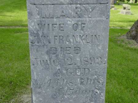 FRANKLIN, MARY - Cass County, Iowa | MARY FRANKLIN