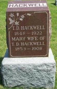 HACKWELL, MARY - Cass County, Iowa | MARY HACKWELL