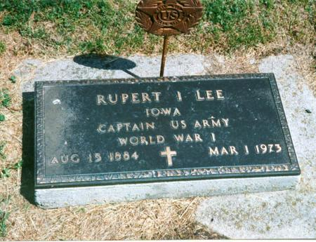 LEE, RUPERT  I. - Cass County, Iowa | RUPERT  I. LEE