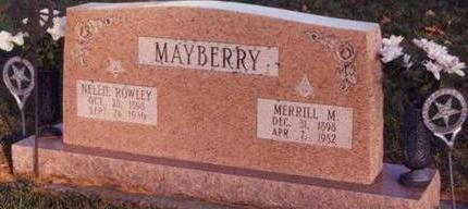ROWLEY MAYBERRY, NELLIE LUELLA - Cass County, Iowa | NELLIE LUELLA ROWLEY MAYBERRY