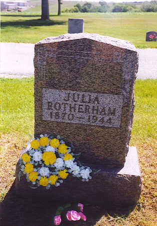 ROTHERHAM, JULIA - Cass County, Iowa | JULIA ROTHERHAM
