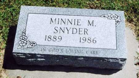 SNYDER, MINNIE MAUDE - Cass County, Iowa | MINNIE MAUDE SNYDER