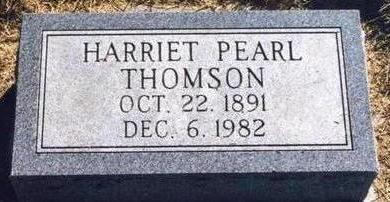 THOMSON, HARRIET PEARL - Cass County, Iowa | HARRIET PEARL THOMSON