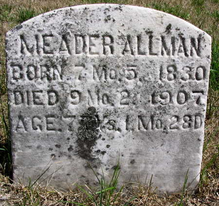 ALLMAN, MEADER - Cedar County, Iowa | MEADER ALLMAN