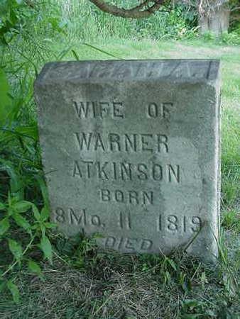 ATKINSON, SARAH A. - Cedar County, Iowa   SARAH A. ATKINSON