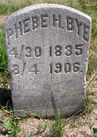 BYE, PHEBE H. - Cedar County, Iowa | PHEBE H. BYE