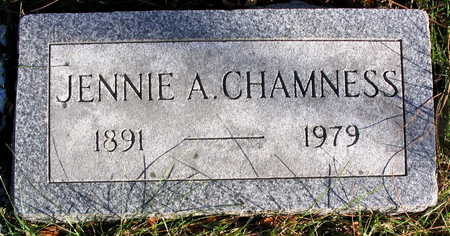 CHAMNESS, JENNIE A. - Cedar County, Iowa | JENNIE A. CHAMNESS