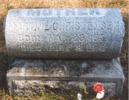 CHRISTENSEN, MARTINE - Cedar County, Iowa   MARTINE CHRISTENSEN