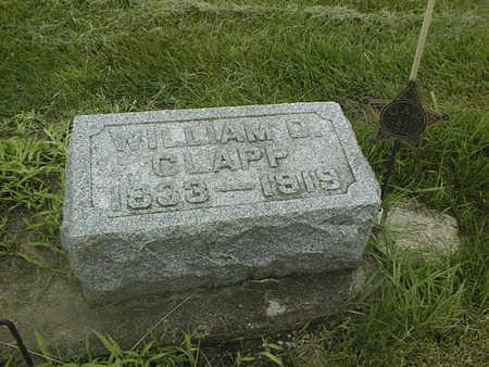 CLAPP, WILLIAM D. - Cedar County, Iowa | WILLIAM D. CLAPP