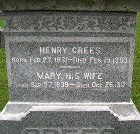 CREES, HENRY - Cedar County, Iowa | HENRY CREES