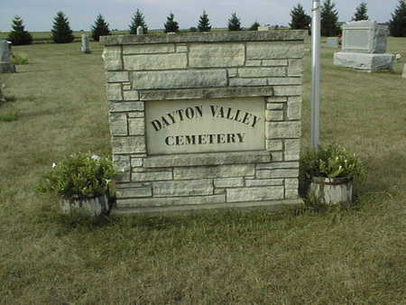 DAYTON VALLEY, CEMETERY - Cedar County, Iowa | CEMETERY DAYTON VALLEY