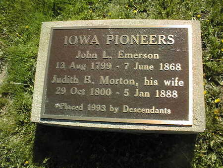 MORTON EMERSON, JUDITH B. - Cedar County, Iowa | JUDITH B. MORTON EMERSON