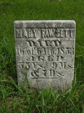 FAWCETT, MARY - Cedar County, Iowa | MARY FAWCETT