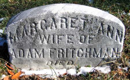 FRITCHMAN, MARGARET ANN - Cedar County, Iowa | MARGARET ANN FRITCHMAN