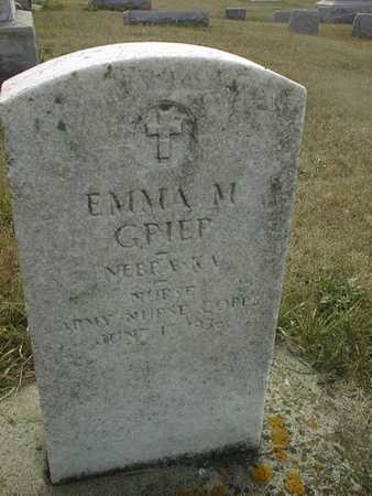 GRIEP, EMMA M. - Cedar County, Iowa | EMMA M. GRIEP