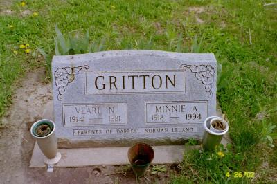 GRITTON, MINNIE A. - Cedar County, Iowa | MINNIE A. GRITTON