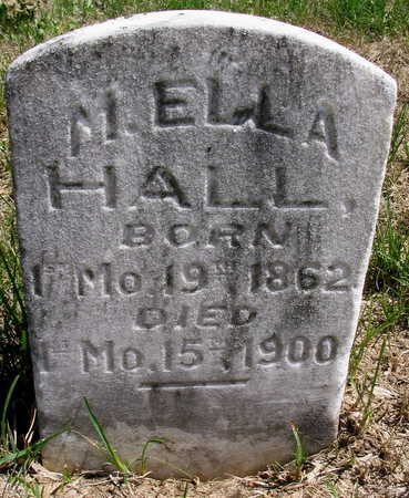 HALL, M. ELLA - Cedar County, Iowa | M. ELLA HALL