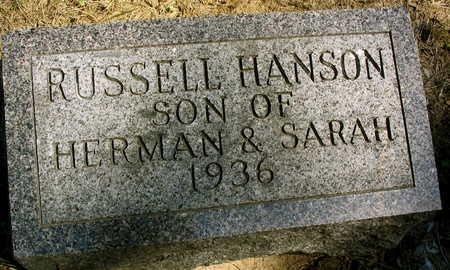 HANSON, RUSSELL - Cedar County, Iowa | RUSSELL HANSON