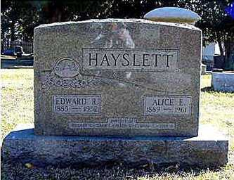 HAYSLETT, EDWARD RICHARD - Cedar County, Iowa | EDWARD RICHARD HAYSLETT