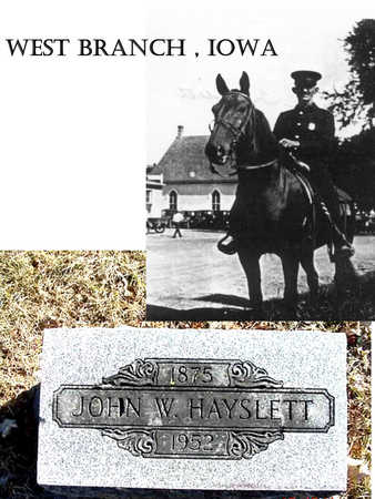 HAYSLETT, JOHN WILLIAM - Cedar County, Iowa | JOHN WILLIAM HAYSLETT