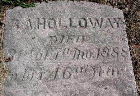 HOLLOWAY, R.A. - Cedar County, Iowa | R.A. HOLLOWAY