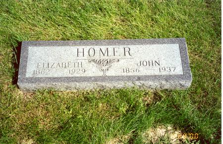 GAMBLE HOMER, ELIZABETH - Cedar County, Iowa | ELIZABETH GAMBLE HOMER