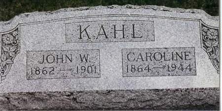 KAHL, JOHN W. - Cedar County, Iowa | JOHN W. KAHL