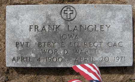 LANGLEY, FRANK - Cedar County, Iowa | FRANK LANGLEY