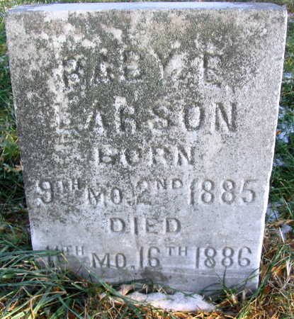 LARSON, BABY E. - Cedar County, Iowa | BABY E. LARSON
