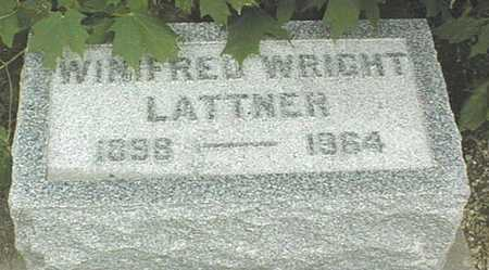 WRIGHT LATTNER, WINIFRED - Cedar County, Iowa | WINIFRED WRIGHT LATTNER