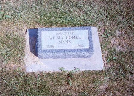 HOMER MANN, WILMA - Cedar County, Iowa | WILMA HOMER MANN