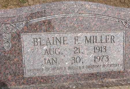 MILLER, BLAINE F. - Cedar County, Iowa | BLAINE F. MILLER
