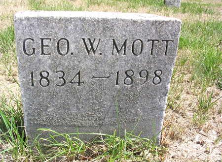 MOTT, GEORGE W. - Cedar County, Iowa | GEORGE W. MOTT
