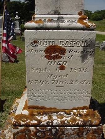 PATON, JOHN - Cedar County, Iowa | JOHN PATON