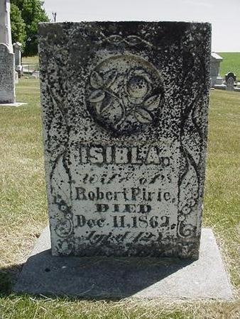 PIRIE, ISIBL A. - Cedar County, Iowa | ISIBL A. PIRIE
