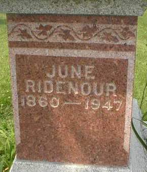 RIDENOUR, JUNE - Cedar County, Iowa | JUNE RIDENOUR