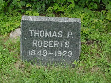 ROBERTS, THOMAS P. - Cedar County, Iowa   THOMAS P. ROBERTS