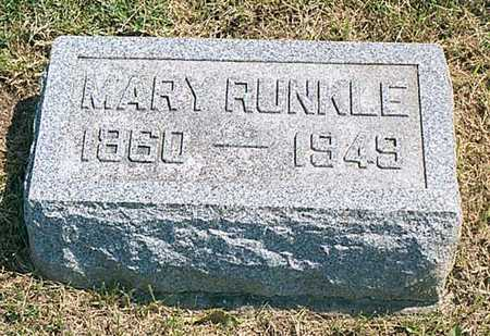 RUNKLE, MARY - Cedar County, Iowa | MARY RUNKLE